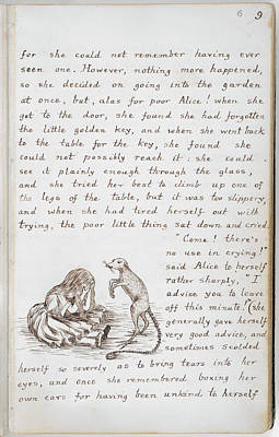 Crying Photograph - Alice's Adventures In Wonderland by British Library