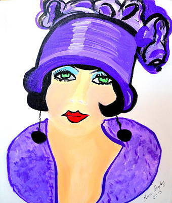 Art Deco Milly Print by Nora Shepley