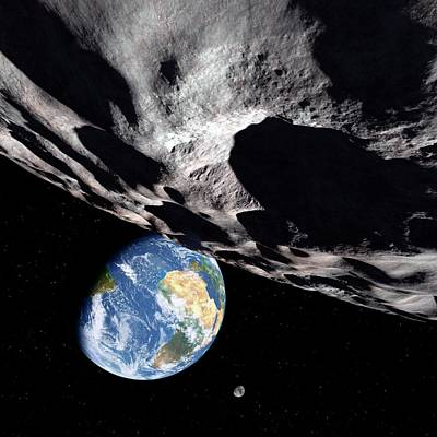 Planetoid Photograph - Asteroid Approaching Earth by Detlev Van Ravenswaay