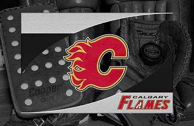 Hockey Photograph - Calgary Flames by Joe Hamilton