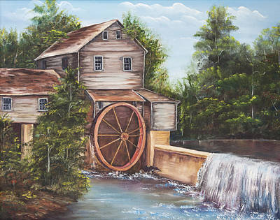 Pigeon Forge Painting - The Old Mill by Frances Lewis