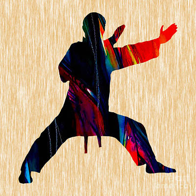 Martial Arts Karate Print by Marvin Blaine