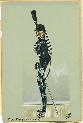 Caricature Painting - Military Uniform Caricatures by Celestial Images