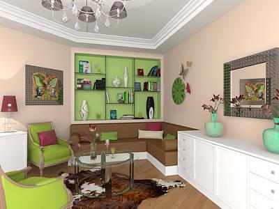 Top Painting - My Art In The Interior Decoration - Elena Yakubovich by Elena Yakubovich