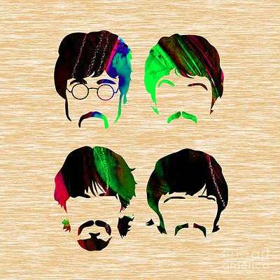 Mccartney Mixed Media - The Beatles Collection by Marvin Blaine