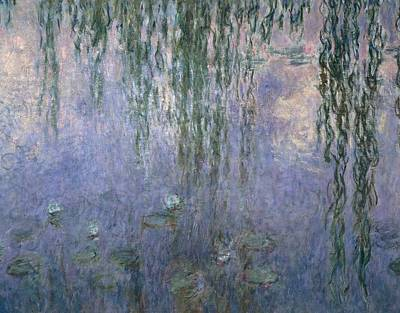 Garden Water Falling Flower Pond Painting - Water Lilies by Claude Monet