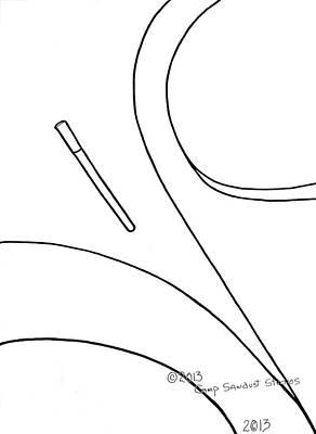 Tn Drawing - 147-ls 'teardropper' by Gregory Otvos