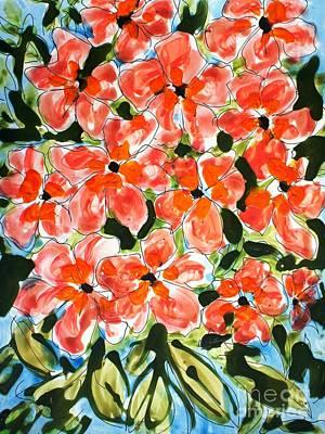 Ts Painting - Zenmoksha Flowers by Baljit Chadha