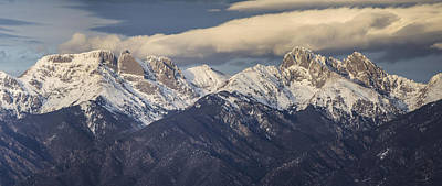 Crestone Photograph - 14er Panorama 2 by Aaron Spong