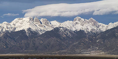 Crestone Photograph - 14er Panorama by Aaron Spong