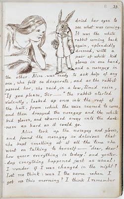 Arts In Wonderland Photograph - Alice's Adventures In Wonderland by British Library