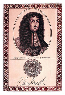 Autograph Painting - Charles II (1630-1685) by Granger