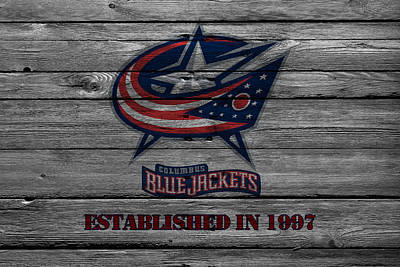Blue Barn Doors Photograph - Columbus Blue Jackets by Joe Hamilton