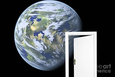 Luna Photograph - Door To New World by Michal Bednarek