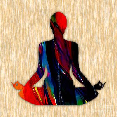 Inspirational Mixed Media - Fitness Yoga by Marvin Blaine