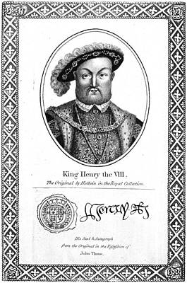 Autograph Painting - Henry Viii (1491-1547) by Granger