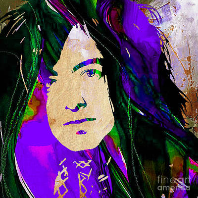 Jimmy Page Collection Print by Marvin Blaine