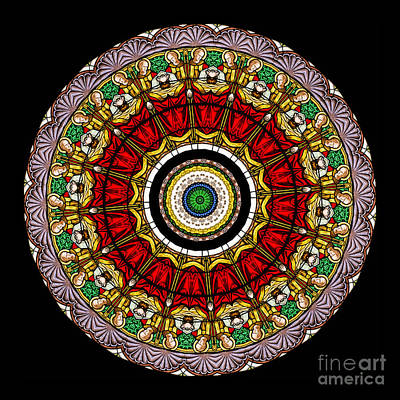 Mandala Photograph - Kaleidoscope Stained Glass Window Series by Amy Cicconi