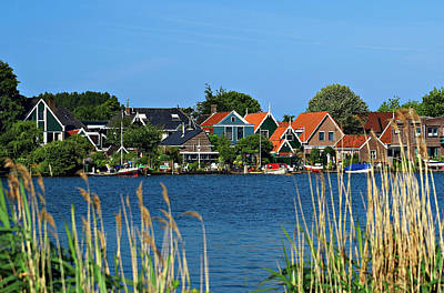 Red Roof Photograph - Netherlands, North Holland, Zaanstad by Miva Stock
