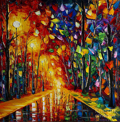 Rainy Night Painting - Rainy Night by Willson Lau