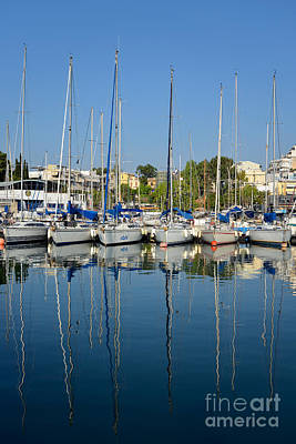 Mirror Photograph - Reflections In Mikrolimano Port by George Atsametakis