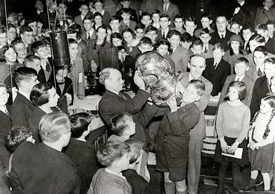 Diving Helmet Photograph - Royal Institution Christmas Lecture by Royal Institution Of Great Britain