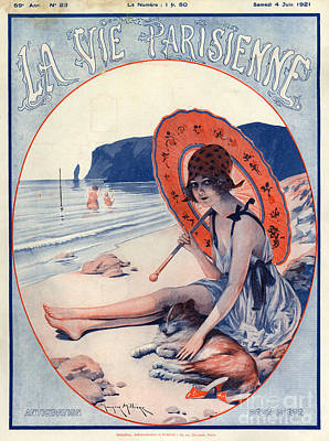 La Vie Parisienne Photograph - 1920s France La Vie Parisienne Magazine by The Advertising Archives