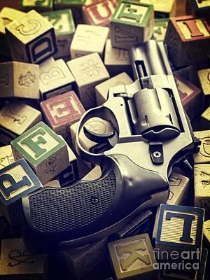 154 Bullets In 5 Minutes Print by Edward Fielding