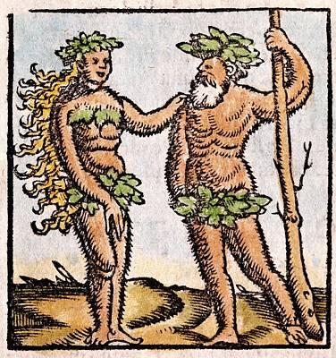 1560 Mermaid Ichthyophagi Munster Print by Paul D Stewart