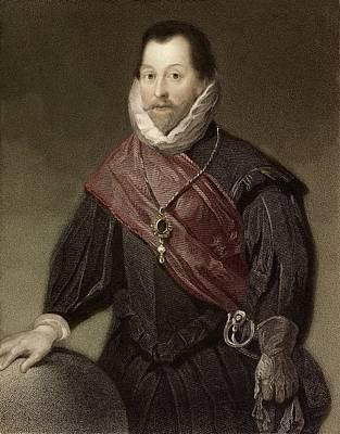 1580 Sir Francis Drake Tudor Explorer Print by Paul D Stewart