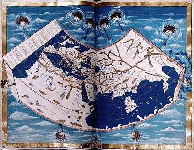 15th Century Photograph - 15th Century Map by Renaissance And Medieval Manuscripts Collection/new York Public Library