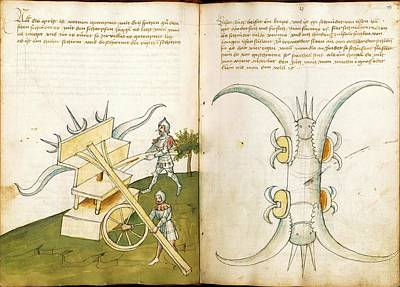 15th Century Photograph - 15th Century Military Equipment by Scientific, Historical, And Didactic Manuscripts/bellifortis/new York Public Library