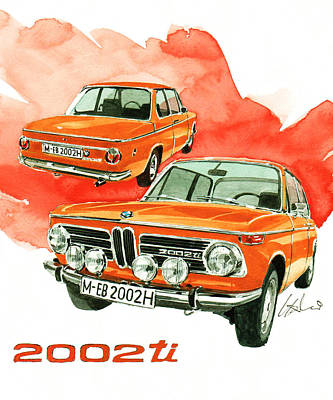 Ti Painting - Bmw 2002 Ti by Yoshiharu Miyakawa