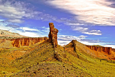Capitol Reef National  Park Cathedral Valley Print by Mark Smith