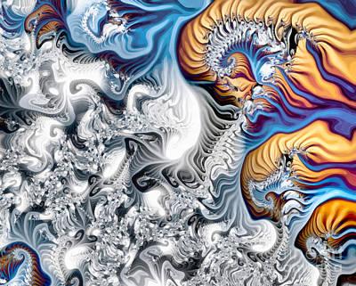 Fiber Art Painting - Colorful Fractal Paint by Odon Czintos