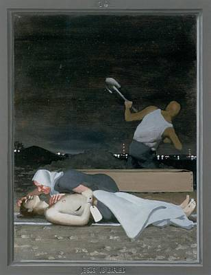 Via Dolorosa Painting - 16. Jesus Is Buried / From The Passion Of Christ - A Gay Vision by Douglas Blanchard