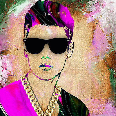 Justin Mixed Media - Justin Bieber Collection by Marvin Blaine