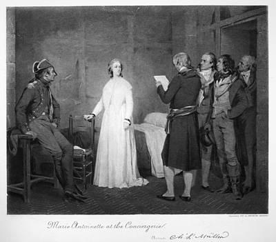 Prison Painting - Marie Antoinette (1755-1793) by Granger