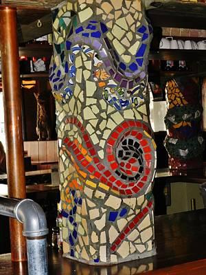 Mosaic Pillar Print by Charles Lucas