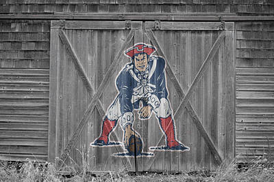 Door Photograph - New England Patriots by Joe Hamilton