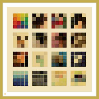16 Squares Print by Gary Grayson