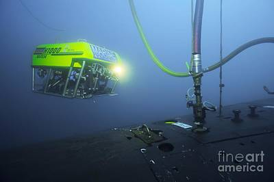 Submarine Rescue Unit Training Print by Alexis Rosenfeld