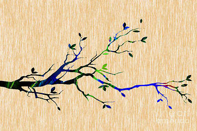 Background Mixed Media - Tree Branch Collection by Marvin Blaine