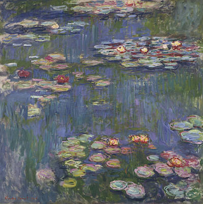 20th Century Painting - Water Lilies by Claude Monet
