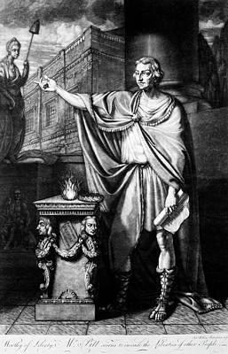 Liberty Painting - William Pitt (1708-1778) by Granger