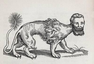 Monster Photograph - 1607 Manticore Or Mantichore Monster by Paul D Stewart