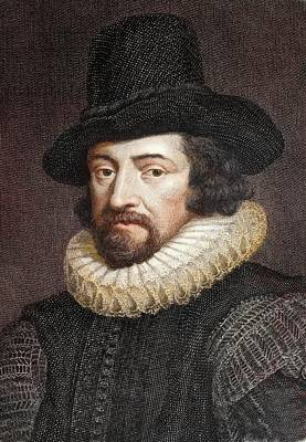1618 Sir Francis Bacon Scientist Portrait Print by Paul D Stewart