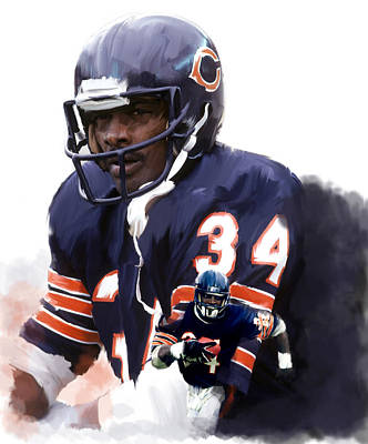 Sweet Chicago Walter Payton Print by Iconic Images Art Gallery David Pucciarelli