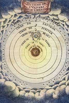 1683 Copernicus Universe Early Print Print by Paul D Stewart