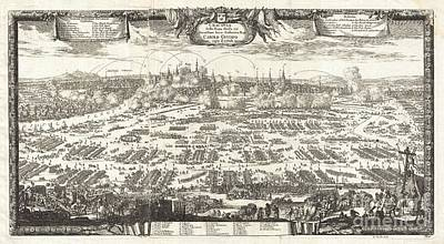 1697 Pufendorf View Of Krakow Cracow Poland Print by Paul Fearn